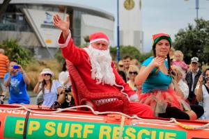 New Brighton Santa Parade. http://www.stuff.co.nz/the-press/news/the-east/9518363/New-Brighton-parade-celebrates-13th-year