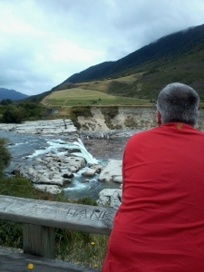 The Bean Counter contemplates the Maruia Falls (and upcoming afternoon tea)