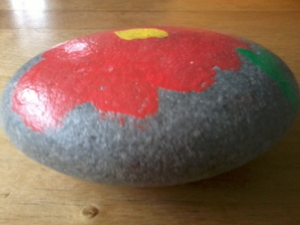 Here's one we prepared earlier... or a river stone.