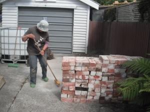 Brick cleaning phase one: finished.